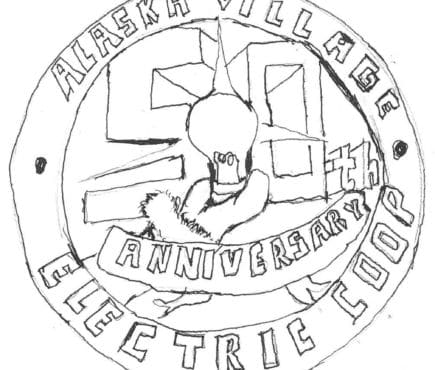 hand drawn 50th anniversary logo