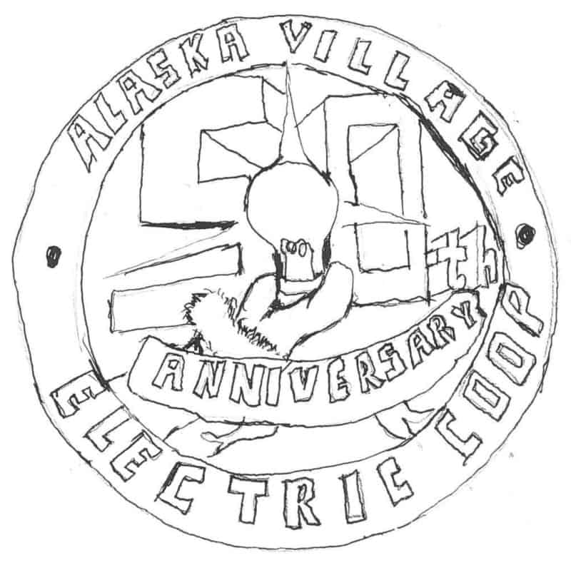hand drawn 50th anniversary logo